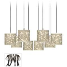 Laurel Court Luxe 8-Light Swag Style Multi Light  Pendant