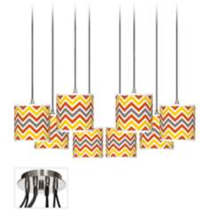 Flame Zig Zag Luxe 8-Light Swag Chandelier