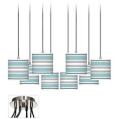 Multi Color Stripes Luxe 8-Light Swag Chandelier