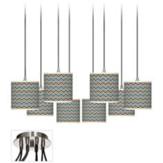 Zig Zag Giclee Luxe 8-Light Swag Chandelier
