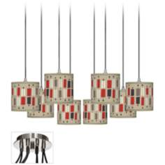 Bounce Giclee Luxe 8-Light Swag Chandelier