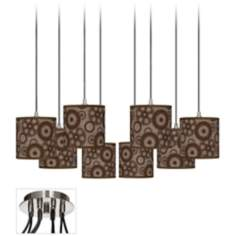 Industrial Gears Luxe 8-Light Swag Chandelier