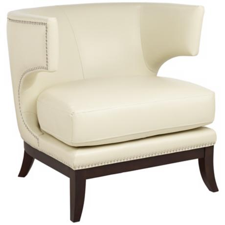 Napoli Cream Winged Accent Chair