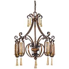 "Metropolitan Vineyard Haven 5-Light 35"" High Chandelier"