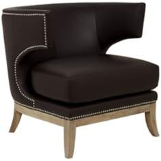 Napoli Dark Chocolate Winged Accent Chair