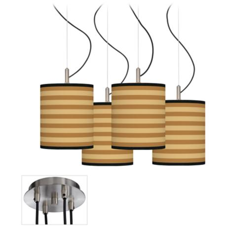 Butterscotch Parallels Luxe 4-Light Multi Swag Chandelier