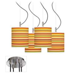 Harvest Stripe Luxe 4-Light Multi Swag Chandelier