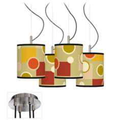 Retro Citrus Medley Luxe 4-Light Multi Swag Chandelier