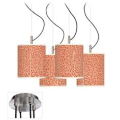 Seafan Coral Luxe 4-Light Multi Swag Chandelier