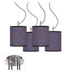 Seafan Rich Plum Luxe 4-Light Multi Swag Chandelier