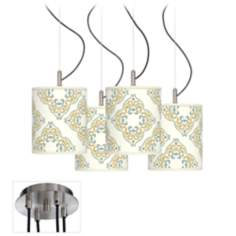 Aster Ivory Giclee Luxe 4-Light Swag Chandelier