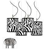 Safari Zebra Luxe 4-Light Multi Light Pendant