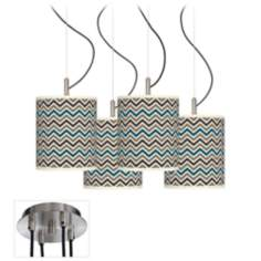 Zig Zag Giclee Luxe 4-Light Swag Chandelier