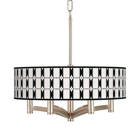 Tribal Weave Ava 6-Light Nickel Pendant Chandelier