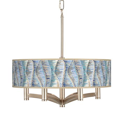 Siren Ava 6-Light Nickel Pendant Chandelier
