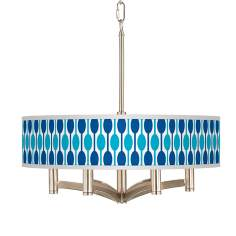 Jet Set Ava 6-Light Nickel Pendant Chandelier