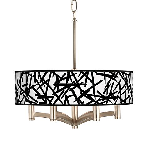 Sketchy Ava 6-Light Nickel Pendant Chandelier