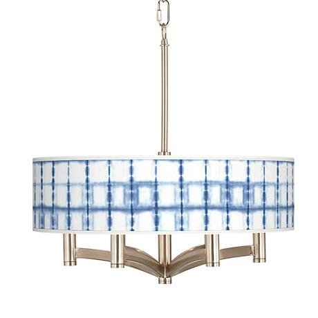 Blue Mist Ava 6-Light Nickel Pendant Chandelier