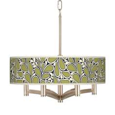 Stacy Garcia Rain Metal Ava 6-Light Nickel Pendant Fixture