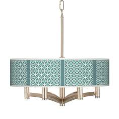 Aqua Rings Ava 6-Light Nickel Pendant Chandelier