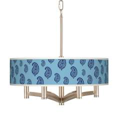 Paisley Rain Ava 6-Light Nickel Pendant Chandelier
