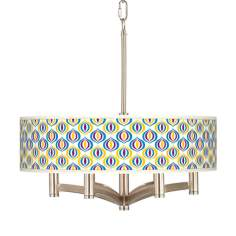 Scatter Ava 6-Light Nickel Pendant Chandelier