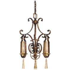 "Metropolitan 28 1/2"" H Vineyard Haven 3-Light Chandelier"