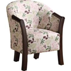 Flowers White Kids Accent Chair