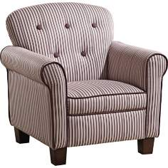 Mocha Striped Kids Armchair