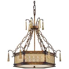 "Metropolitan Vineyard Haven 40"" High 5-Light Chandelier"