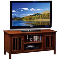 Leick Furniture Amber Cherry Storage TV Stand