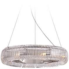 "Crystal Coil 23"" Wide Chrome and Glass Pendant Light"