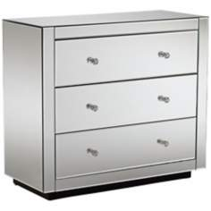 Audrey 3-Drawer Mirrored Chest