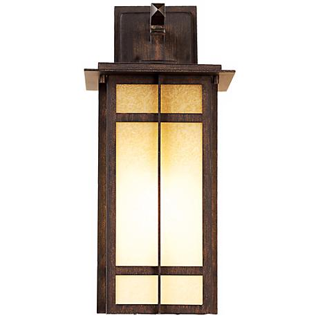 "Delancy 17 1/2"" High Iron Oxide Outdoor Wall Lantern"