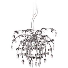 "Taryn Chrome 31"" Wide Clear Crystal Pendant Chandelier"