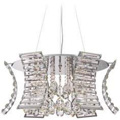 "Possini Euro Pommer 27"" Wide Crystal Pendant Light"