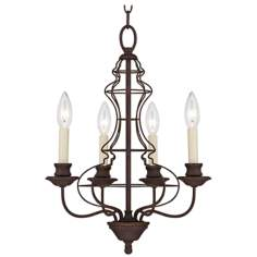 "Quoizel Laila 4-Light 15"" Wide Bronze Chandelier"