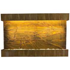 "Quarry Marble and Copper 51"" Wide Indoor Wall Fountain"