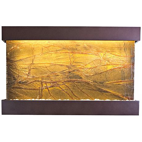 "Quarry Marble and Copper Vein 51"" Wide Indoor Wall Fountain"