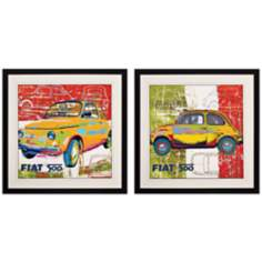 "Set of 2 Pop 500 I/II 26"" Square Wall Art"