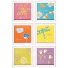 "Set of 6 Nature Square 12"" Graphic Wall Art"