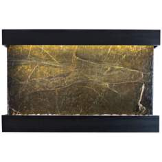 "Quarry Green Marble and Black 51"" Wide Indoor Wall Fountain"