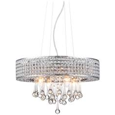 "Possini Euro Adaline 19 1/4"" Wide Crystal Pendant Light"