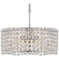 "Possini Euro Ella 16"" Wide Chrome Crystal Pendant Light"