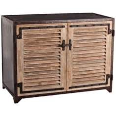 Arteriors Home Paris Iron and Wood Cabinet