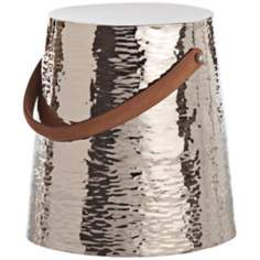 Arteriors Home Taylor Hammered Metal Stool
