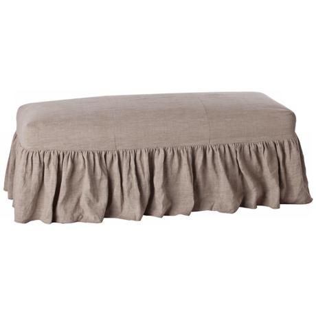 Arteriors Home Avebury Natural Linen Bench