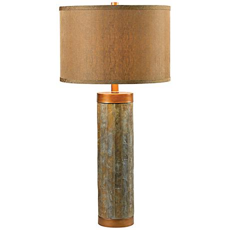 Kenroy Home Mattias Slate Tile Table Lamp