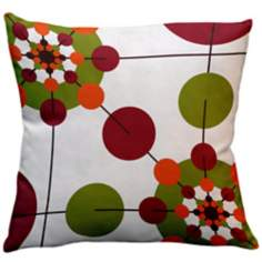 "Rhythm Jamila Floral 18"" Square Down Throw Pillow"
