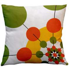 "Rhythm Karibou Floral 18"" Square Down Throw Pillow"